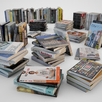 Books and Magazines Set